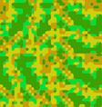 Modern pixel camouflage cartoon pattern vector image