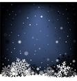 dark blue snow mesh background vector image