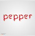 pepper word made of small peppers vector image