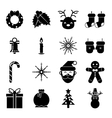 New Year Symbols Christmas Accessories Icons vector image