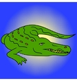 Alligator pop art vector image