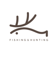 Abstract design template of fishing and hunting vector image
