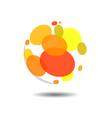 Circular Bubble Logo Icon Template vector image