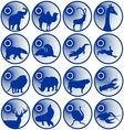 Badges with fauna vector image