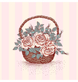 Basket rose vector image