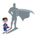 Boy Superhero Concept vector image