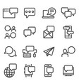 communication speech bubble message symbols vector image
