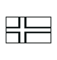 flag of faroe islands monochrome on white vector image