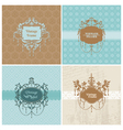 Set of Retro Cards with photo frame vector image