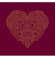 Valentine day Beautiful thin line ornamental heart vector image
