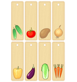 vegetables label vector image