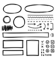 Set of hand drawn elements for selecting text vector image