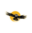 Owl swooping front vector image