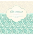 Ornamental pattern invitation card vector image