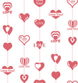 Heart pattern to Valentines Day Seamless texture vector image vector image