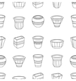 Seamless pattern with flowerpots vector image vector image