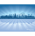 Brighton England skyline with reflection in water vector image vector image