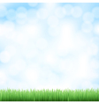 spring sky background vector image