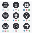 Home appliances device icons Air conditioning vector image