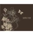vintage background with floral vector image vector image