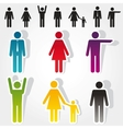 colorful people icons vector image