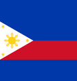 flag of republic of philippines in peacetime vector image