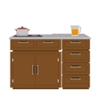 kitchen furniture wooden vector image