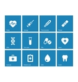 Medical icons on blue background vector image