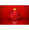 Merry Christmas greeting card with Christmas ball vector image