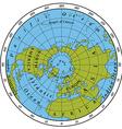 Northern Hemisphere vector image