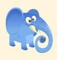 cute cartoon blue elephant vector image