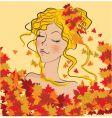 autumn girl vector image vector image