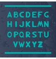 English alphabet with letters round shape vector image