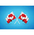 greenland flag vector image vector image