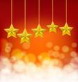 golden stars on golden ropes vector image