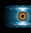 abstract technology digital circle with eye globe vector image