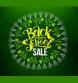 back to school sale lettering in circle vector image