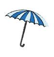 blue and white umbrella circus equipment vector image