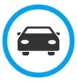 Car Flat Rounded Icon vector image
