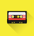 Cassette tape icon vector image