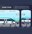 intercity railway station vector image