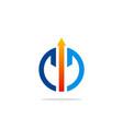 power symbol arrow logo vector image