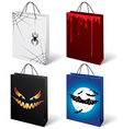 set of halloween shopping bags vector image