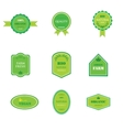 Set of labels for organic and natural food vector image