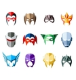 super hero masks for face character in flat vector image