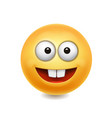 yellow smile face cute icon vector image