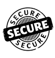 Secure rubber stamp vector image