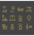 Set icons commercial scales vector image