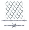 seamless tiling fence and barbed wire vector image