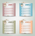 Modern origami colored steps background vector image